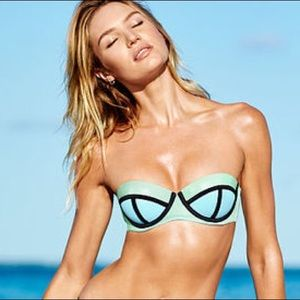 Used Victoria's Secret Swim Push-Up Bandeau Top